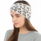 CHB1965 Soft Frizzy Fabric Knot Headband, Ivory