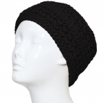 CHB811 Patterned Cable Knitted Headband, Black