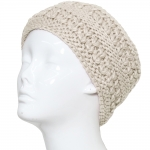 CHB811 Patterned Cable Knitted Headband, Ivory