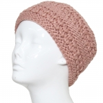 CHB811 Patterned Cable Knitted Headband, Pink