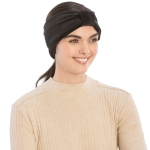 CHB812 Faux Suede Knotted Headband, Black