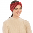 CHB812 Faux Suede Knotted Headband, Burgundy
