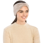 CHB812 Faux Suede Knotted Headband, Grey