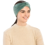 CHB812 Faux Suede Knotted Headband, Hunter Green