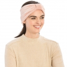 CHB812 Faux Suede Knotted Headband, Pink