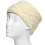 CHB813 Diamond Pattern Knitted Headband, Beige