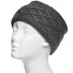 CHB813 Diamond Pattern Knitted Headband, Grey