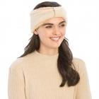CHB983 Teddy Bear Textured Headband, Beige