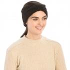 CHB983 Teddy Bear Textured Headband, Black