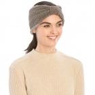 CHB983 Teddy Bear Textured Headband, Grey