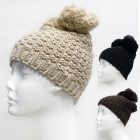 CMH1103 Knit Hat with Two Tassels