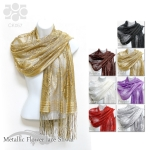 CK057 Metallic Flower Lace Shawl