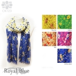 CK123 Multi Color Polka Dot & Floral Scarf
