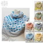 CK128 Polka Dots & Stripes Combination Scarf