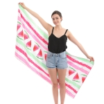 CM0001 Watermelon Print Microfiber Beach Towel/Mat