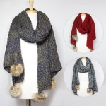 CMF5130 CABLE KNIT TASSOL SCARF