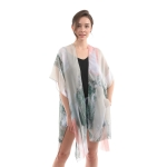 CP0426 Faded Color Block Cover-up, Green