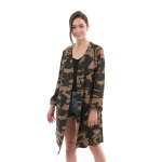 CP0428 Camouflage Pattern Long Cardigan