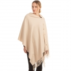 CP0554 Soft Feel Texture Solid Cape/Scarf, Beige