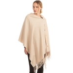 CP1635 Soft Feel Texture Solid Cape/Scarf, Beige