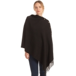 CP1635 Soft Feel Texture Solid Cape/Scarf, Black