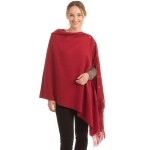CP1635 Soft Feel Texture Solid Cape/Scarf,  Burgundy
