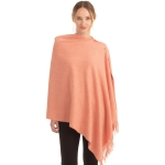 CP1635 Soft Feel Texture Solid Cape/Scarf, Pink