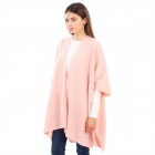CP1634 Solid Color Boucle Poncho, Pink