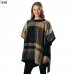 CP6219 CHECK PATTERN PONCHO