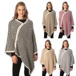 CP6229 Stripe Pattern Poncho
