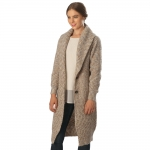 CP6230 Marled Sweater Long Cardigan, Taupe