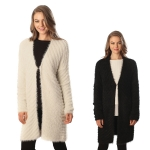 CP6231 FUZZY SWEATER LONG CARDIGAN