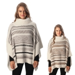 CP6235 Sweater Turtleneck Poncho