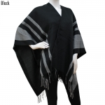 CP6237 3 Stripes cape poncho