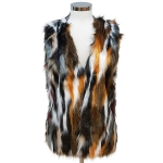 CP6245 Multi Color Fur Vest