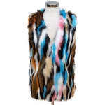 CP6246 Multi Color Fur Vest