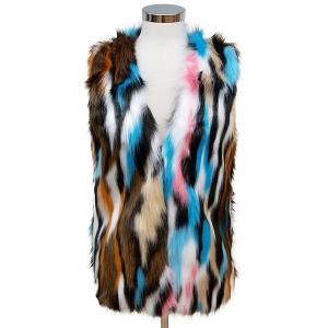 CP6246 Multi Color Fur Vest