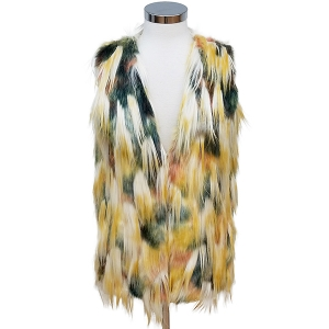 CP6247 Multi Color Fur Vest