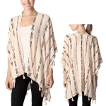 CP7403 Aztec Patterned Stripe Poncho