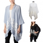 CP7405 Flower Embroidered Poncho