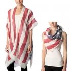 CP7406 American Flag Poncho Cape