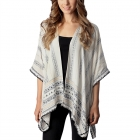 CP7408 Aztec Patterned Stripe Poncho