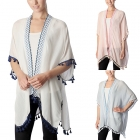 CP7412 Embroidered Edge Poncho