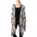 CP7414 Multi-Striped Cape Poncho with Tassel