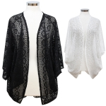 CP7425 Solid Diamond Lace Cover Up