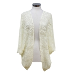 CP7427 Solid Flower Lace Cover Up