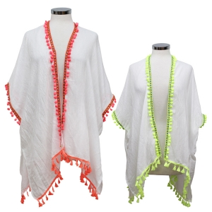 CP7429 SOLID COVERUP W/ POM POMS