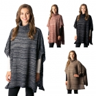 CP7505 Ombre Turtleneck Poncho