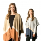 CP7516 Color Block Cape Poncho