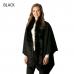 CP7517 Faux Fur Collared Cape Shawl